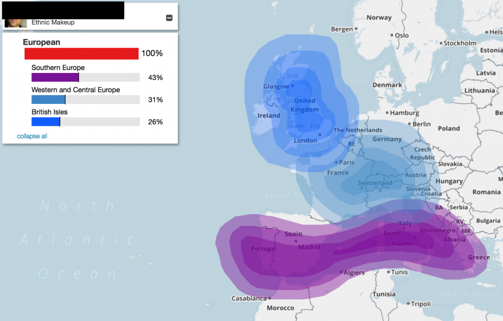 My DNA origins at myfamilytreedna